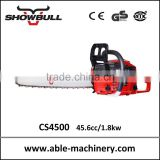 garden tool wholesale with chainsaw ,4500 chain saw with japan walbro carburetor,USA oregon guide bar