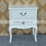Shabby chic vintage furniture cheap wooden white bedside table with storage or lamp table