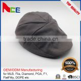 Fashion Design Sport Ivy Cap With Custom Made Patch Logo Plaid Ivy Cap
