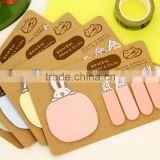 Free sample school supplies wholesale creative stationery design promotional animal shaped sticky notes