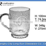 LongRun 270ml drinking tableware glass charming tempered coffee glass mug water glass tea cup set