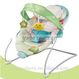 Folding lightweight metal baby bouncer chair /baby rocker chair
