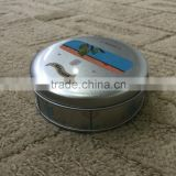 Small metal tins for cuticle balm