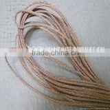 Real Nappa Leather Cords -Real Nappa Leather 2,5 mm Round Strobel Snake Patch Style Beige