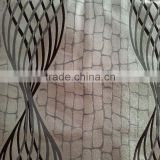 100%Polyester Fleece Base Moorstone Ground Wavelike Swirl Jacquard Curtain Fabric With Blackout Property