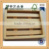 2015 year china suppliers FSC&SA8000 natural handmade bamboo wooden soap holder box for wholesale