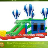 Self inflatable playground balloon