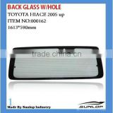 Hiace back glass for toyota hiace body parts hiace back glass with hole flat back glass rear glass #000162