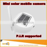 New solar power camera with battery cell phone motion sensor pir 3.6mm lens outdoor wifi wireless solar power camera
