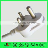 Top high quality India type cable small India power cable plug with 3 pin