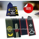 custom uniform hook and loop fastener embroidery us military rank patches