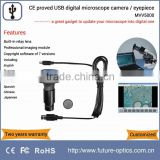 HD high resolution and high sensitivity CE proved digital microscope camera built-in relay lens and imaging software
