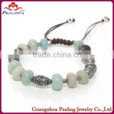 2014 New arrival make handmade bracelet beads natural gemstone jewelry wholesale alibaba shambala design