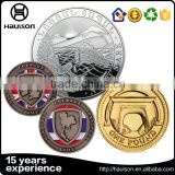2016 China hot sale custom 2d design die casting aluminium alloy material black nickel soft enamel antique challenge coins