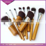 Best Price Cheap Professional Kabuki Bamboo Handle Makeup Brushes Set