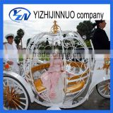 Yizhinuo Princess pumpkin horse carriage for wedding one door cinderella horse drawn wagon