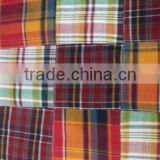 Pure Cotton Material Madras Plaid Patchwork handmade pure fabric