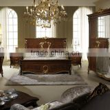 Hand Carved Luxury Classic Italian Wooden 5PCS Bedroom Furniture Set/Hot Sale Antique Home Bedroom Set(MOQ=1 SET)