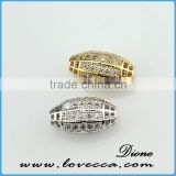 Eco-friendly crystal beads in bulk, silver pave oval beads, diamond shaped crystal beads