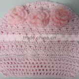 Crochet infant newsboy beanie