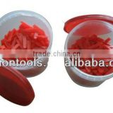 Red Plastic Tile wedges