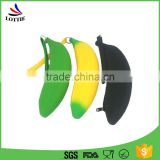 Lottie new product Alibaba wholesale coin purse banana shaped school silicone children pencil bag