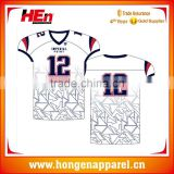 Hongen apparel wholesale cheap national team latest designs youth sublimated custom soccer uniform american football jersey