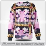 Athletic custom sublimated sweaters multicolor fleece polyester sweatshirts active hooded suits uniforms