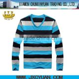 striped body fit t-shirts for men v-neck