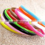 Mix Candy Colors 0.8cm Cheap Girls Thin Hair Headband Plastic Hair Band with Teeth Assorted Colors Plastic Hair Hat Ornament
