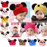 lovely cartoon panda handmade crochet baby hat