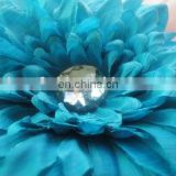 "gerbera 6.3"" fabric jumbo mums mum daisy flowers head hair clip baby girl hair clip accessories"