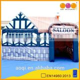 AOQI commercial use outdoor inflatable saloon house tent for party