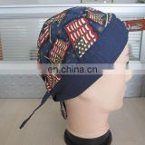 Custom made full mold flag pirate hat cotton reactive printing head scarf fashionable bandana cap made in China