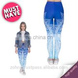 Mandala ombre blue fitness workout sexy pants wholesale custom fit hot girls casual pants photo muscle ladies leggings for woman