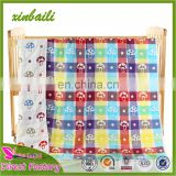 Cartoon Design Four Layers Gauze Cotton Knitted Baby Blanket