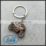 motor car shape metal keychain cycle model keyring for promotion