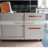 (DL-C1 ) Commercial office furniture steel tambour sliding door mobile file cabinet/ steel mobile caddy