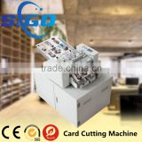 SG-003-I pvc plastic card die cutting machine business card printing and cutting machine