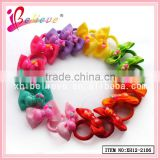 Nice girls neon elastic hair band ribbon bow wholesale elastic band (XH12-2106)