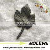 cast steel decorative double faced grape leaf with a stem