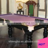 2015 The most popular classic Sports russian billiard table 9ft Solid Wood