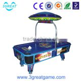 Inflatable coin operated universal air hockey for kids