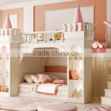 Latest design Royal castle small princess bedroom furniture kids bunk bed for girl                                                                         Quality Choice                                                     Most Popular