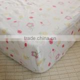 wholesale 100% cotton Jersey fitted sheet for baby