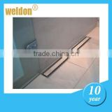 Weldon 10 inch shower drain channel stainless steel
