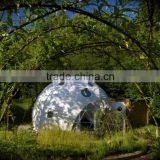 Glamping Geometric dome big steel event dome tent marquee tent pagoda event fabric tent outdoor sun tent with factory price