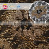 wholesale in stock cheap nylon poly mesh gold glitter lace fabric for dress