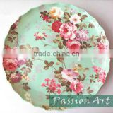 Fashion Flower Style Artwork Melamine Plate