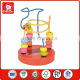 cheap small new toy red wooden fox animal image 2 iron wire 15 pcs roundness beads roller coaster for sale